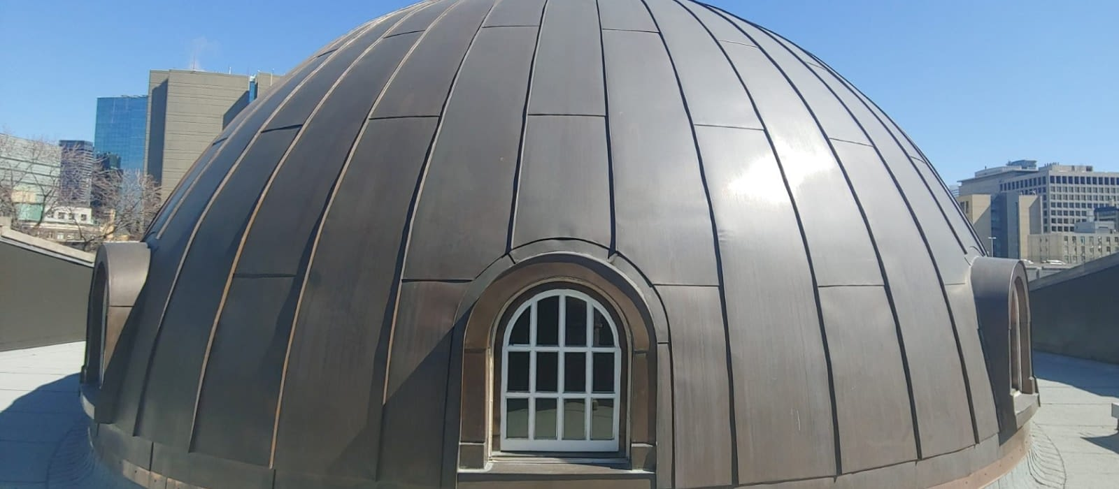 Holy Trinity Russian Church completed roof dome in Toronto, Ontario