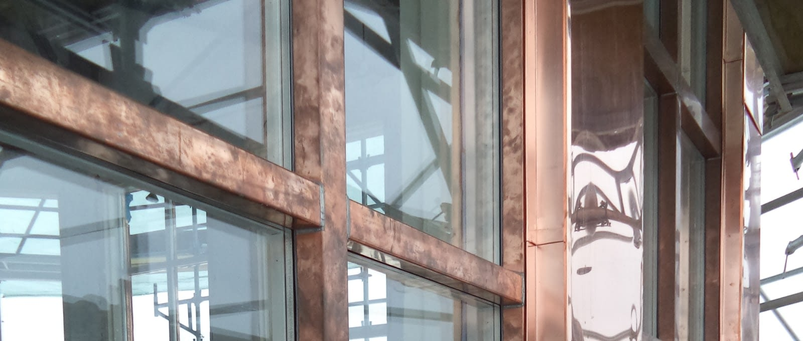 Window and door restoration - Close-up of metal clad window restoration at St.Augustine's Seminary in Toronto, Ontario