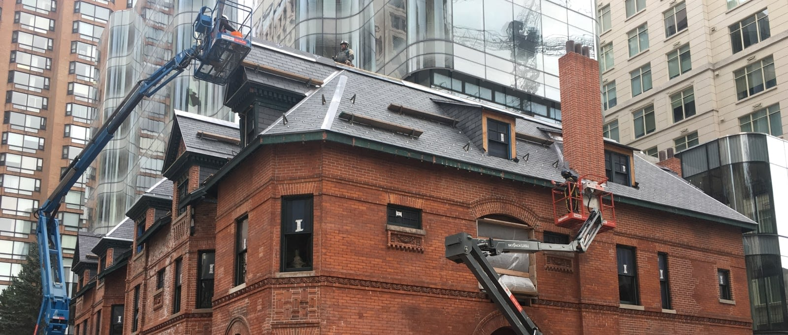 Specialty Residential Roofing - Close-up view of roof restoration at 7 St.Thomas Street in Toronto, Ontario