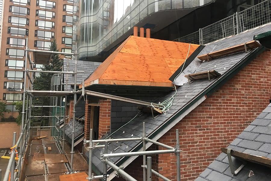 Construction Proccess for Restoring 7 St Thomas Street Toronto