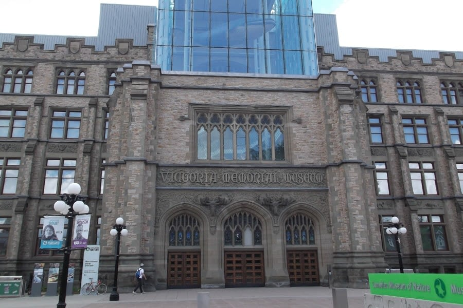 Canadian Museum of Nature Masonry and Scaffolding Front View