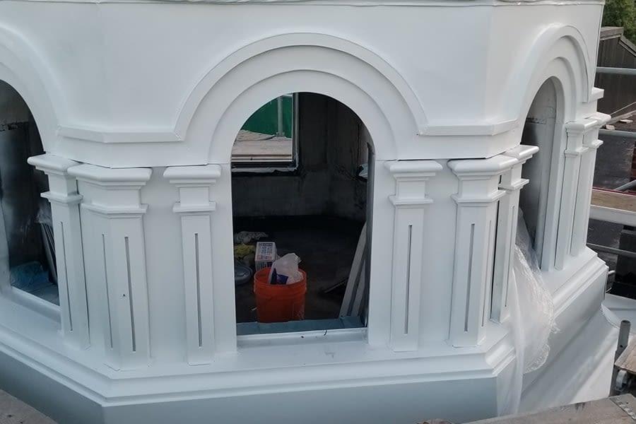 Holy Trinity Russian Orthodox Church masonry Work Front Entrance proccess