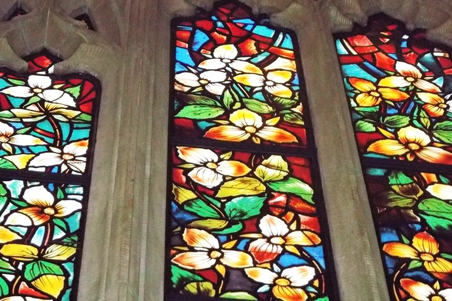 Narrow Window Stain Glass Restoration House of Commons Chamber
