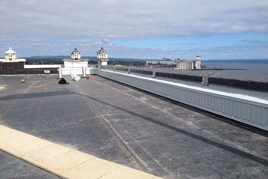 James Whalen Building Terra Cotta Replacement Top View