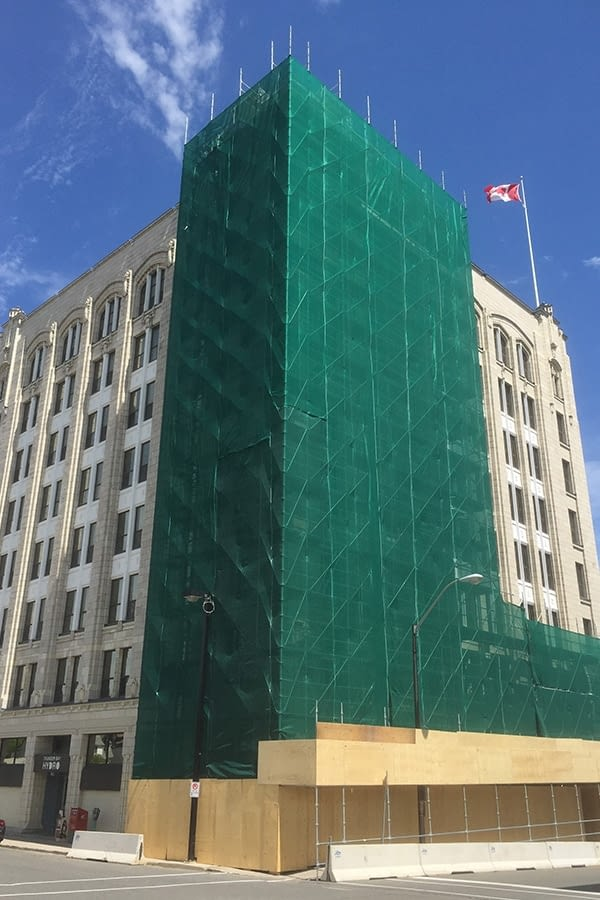 James Whalen Building Exterior Renovation process