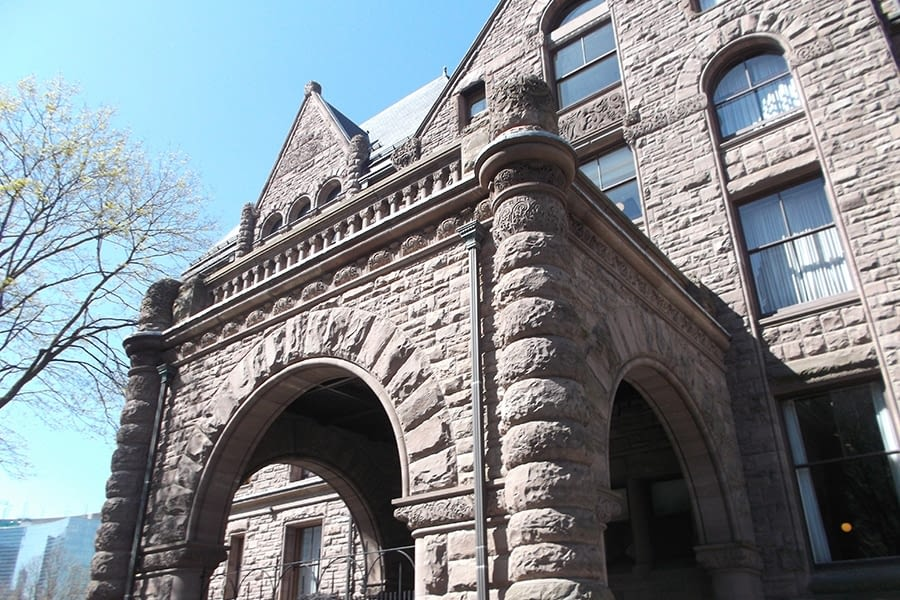 Ontario Legislative Building Masonry work Front Archway