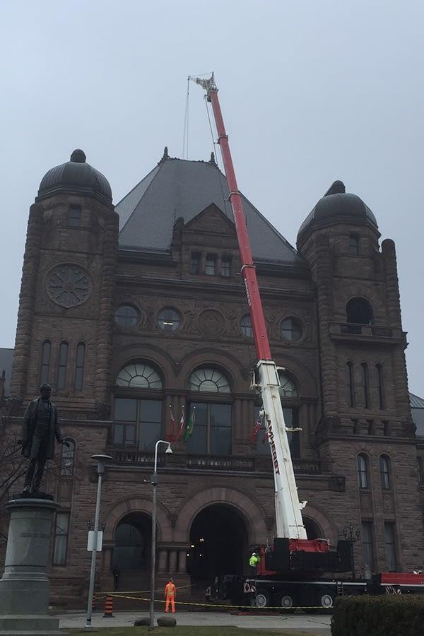 Ontario Legislative Building Slate Roofing Reconstruction