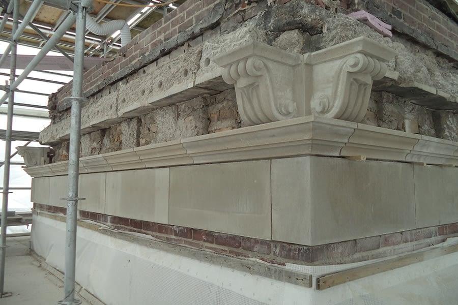 St Augistine's Seminary Masonry Restoration Work Side View Building
