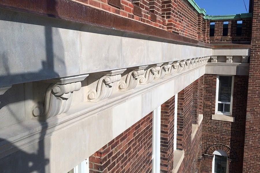 St Augistine's Seminary Masonry Restoration work top of building