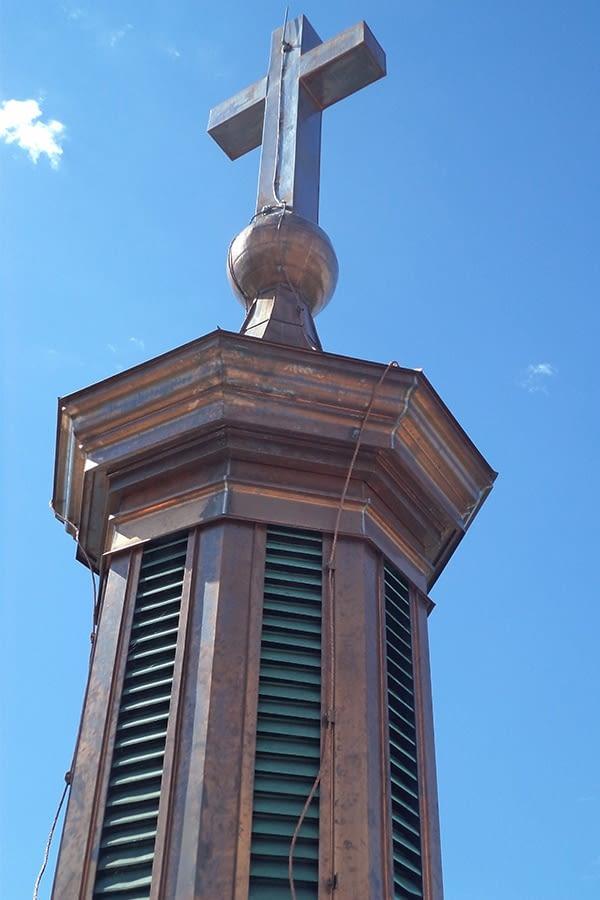 St Augistine's Seminary Restoration of dome top with Cross Masonry Work