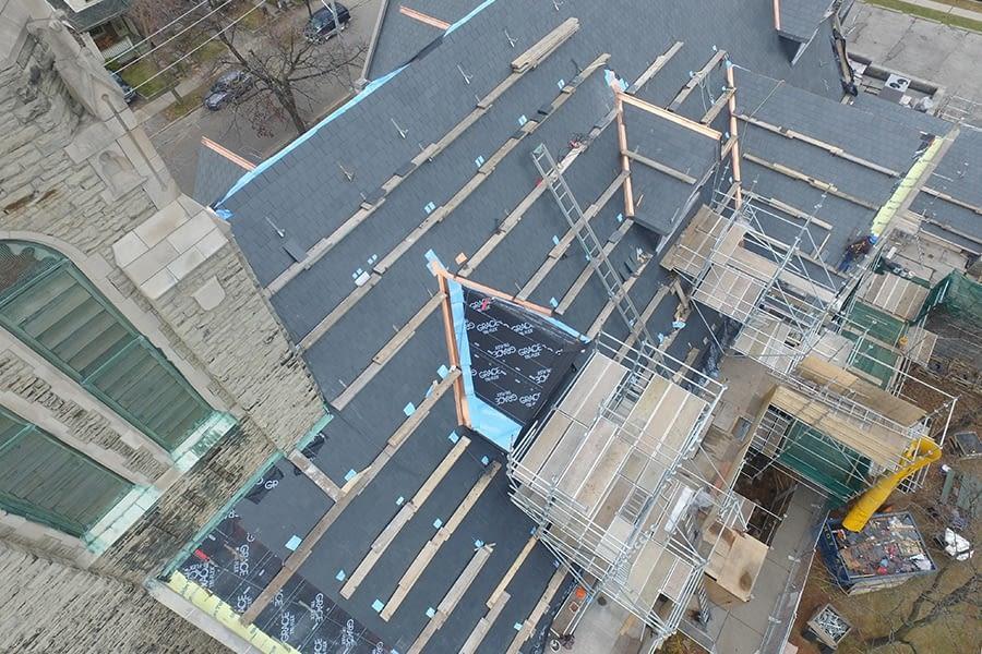 St Brigids Church Slate Roof Replacement Proccess
