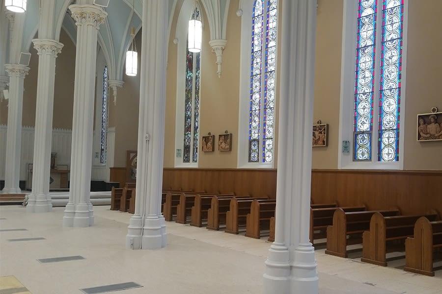 St. Joseph's Roman Catholic Church Interior Plaster Repairs and Lighting