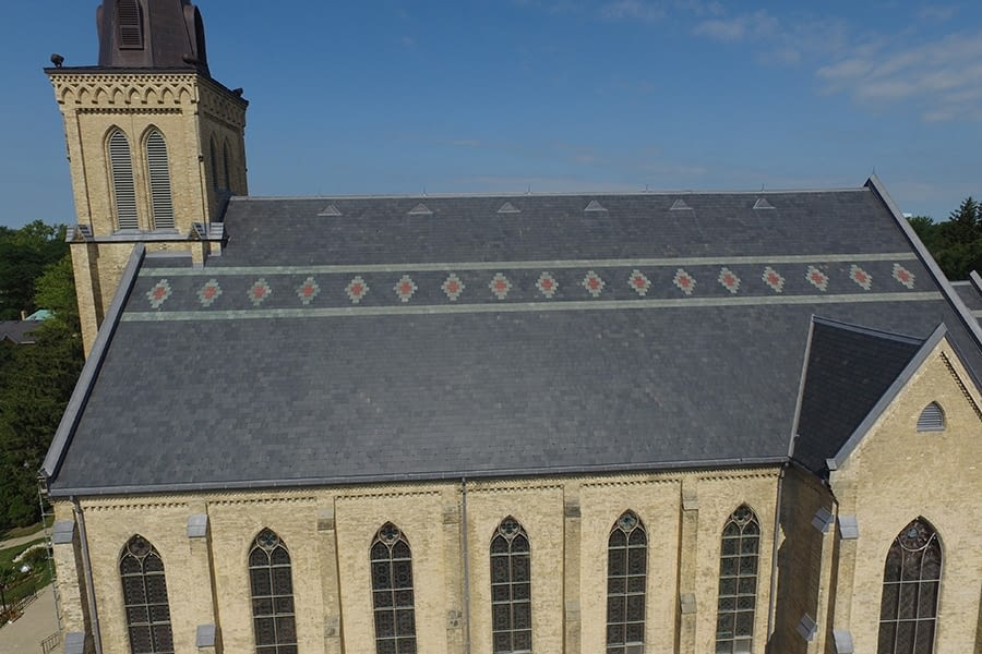 St. Joseph's Roman Catholic Church Exterior Slate Roof Restoration