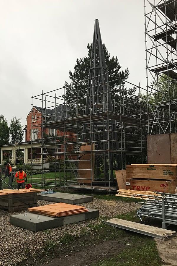 St Patrick's Catholic Church Exterior masonry restoration proccess