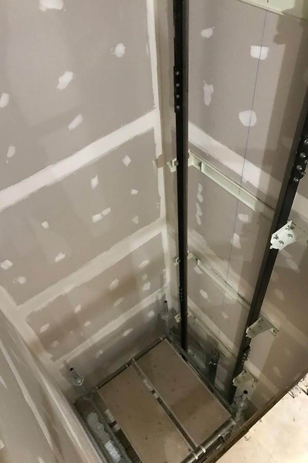 St. Peter's Interior elevator shaft installment