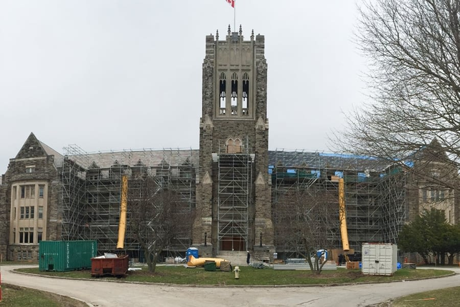 St Peter's Seminary Front Building View Exterior Heritage Masonry Restoration